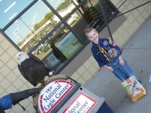 Ethan and a Bald Eagle