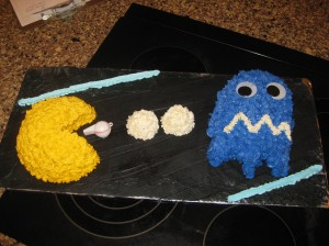 Pac Man Chasing a Ghost