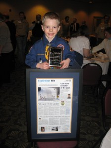 Ethan with Gamehaven Council Awards