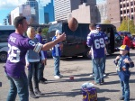 Playing Catch with the Vikings Fans