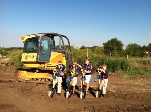 Groundbreaking at Gamehaven Scout Reserve